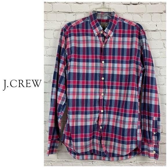 J Crew Summer Plaid Shirt Tailored by J Crew